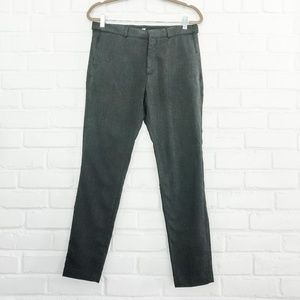 H&M Black/Gray Skinny Fit Trousers Size 33R